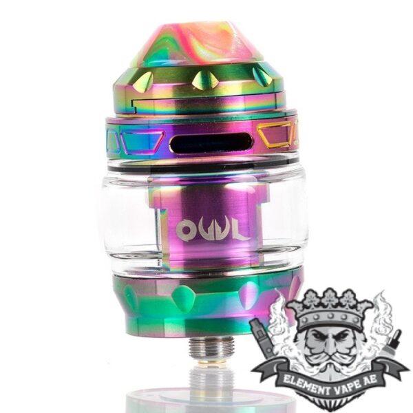 advken owl mesh sub ohm tank rainbow