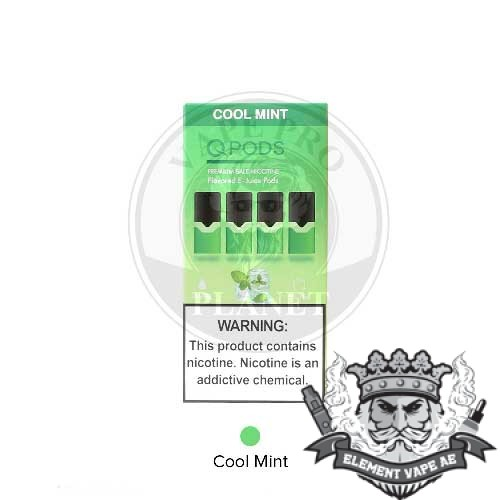 qpods salt nic oil cartridge cool mint vapeproplanet
