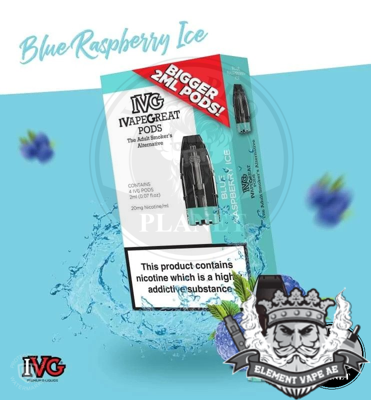 IVG Blueberry ice Prefilled pod 4pcsPack vapeproplanet