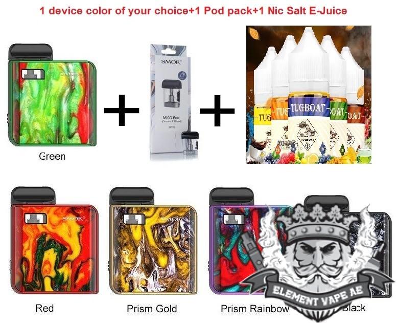 Smok MICO+Extra Pods+E Liquid special offer
