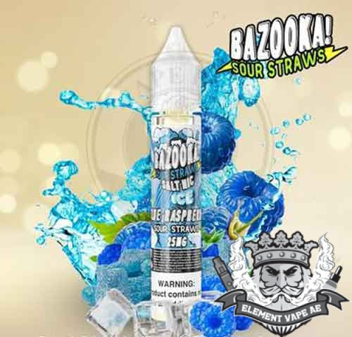 Blue Raspberry Ice Salt by Bazooka Sour Straws
