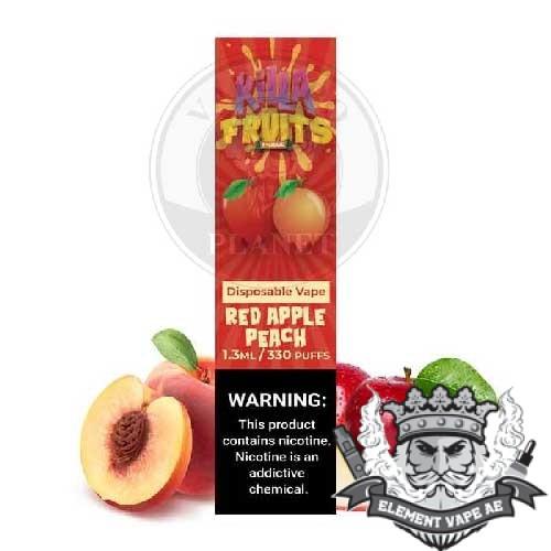 killa fruits red apple peach vapeproplanet