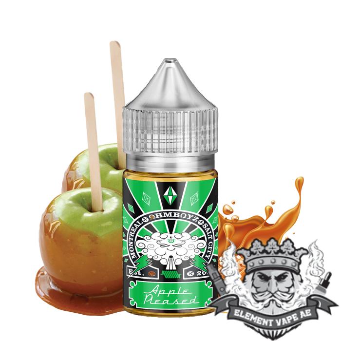 Apple Pleased Saltnic - Ohmboyz Drip City