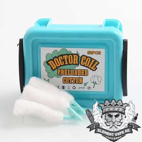 authentic advken doctor coil pre loaded cotton wick for rda rta rdta 50 pcs